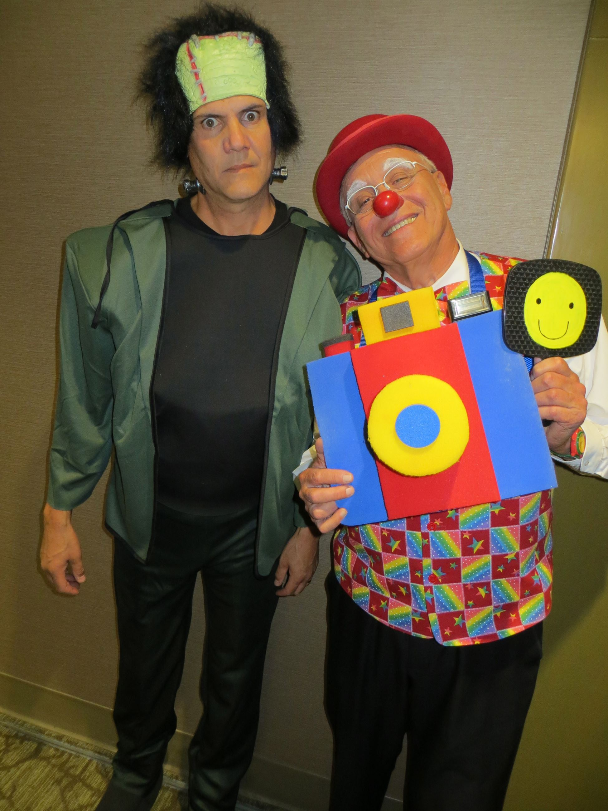 Frankenstein & Clown with Camera