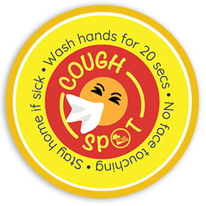 Cough Spot Sticker Image
