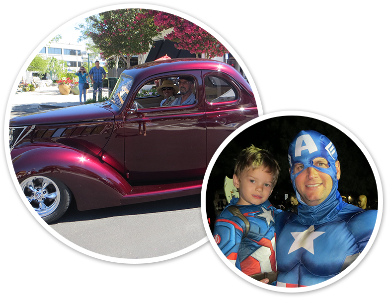 Car and Captain America