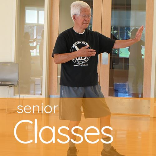 Senior man doing Tai Chi