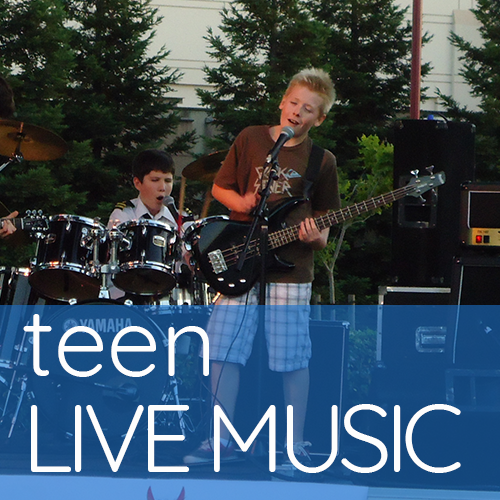 A teen band playing