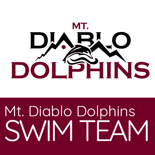 Mt. Diablo Dolphins logo (black and maroon)