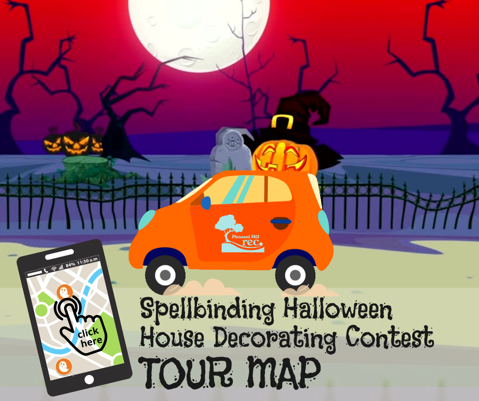 Car Driving By Halloween Scenes with link to Contest Map